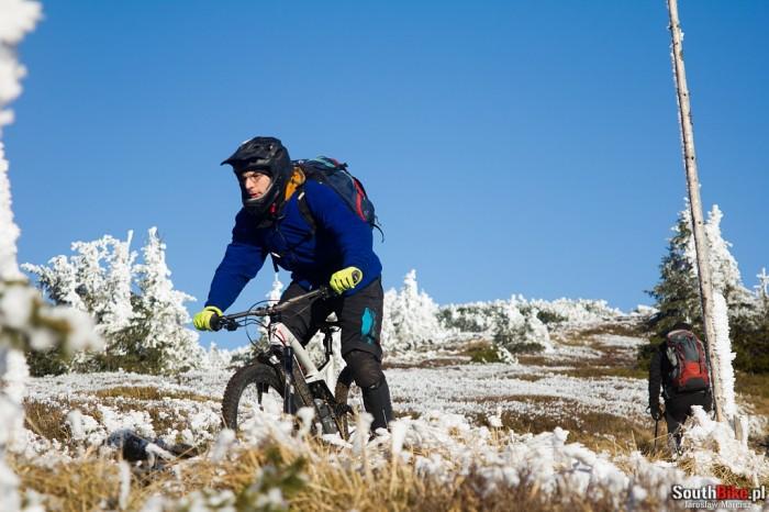 Zjazd ze szczytu Śnieżnika  rider: Michał fot. Jarosław Marcisz